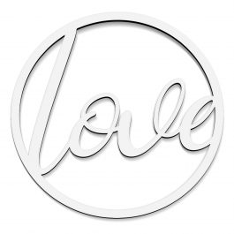 Koło z napisem – love