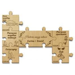 Historia Miłości – puzzle na magnes