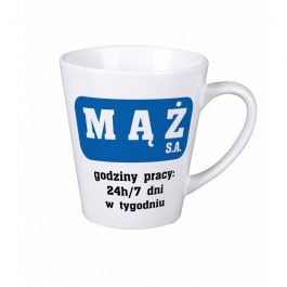 Kubek latte z nadrukiem Mąż MD014