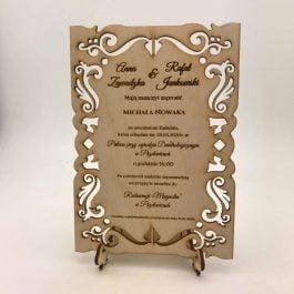 Zaproszenie na ślub MD1