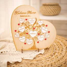 Ramka Serce dla Mamy i Taty MD001