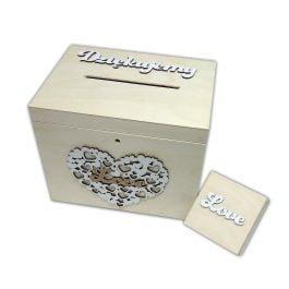 Skrzynka na koperty + pudełko na obrączki