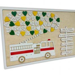 Tablica z wozem strażackim