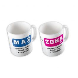 Zestaw kubków MĄŻ & ŻONA MD001