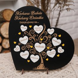 Ramka Serce dla Babci i Dziadka MD006