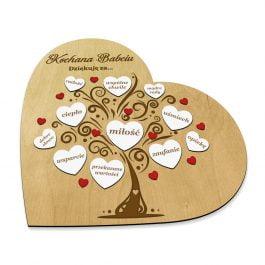 Ramka Serce dla Babci i Dziadka MD004