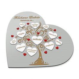 Ramka Serce dla Babci i Dziadka MD003.01