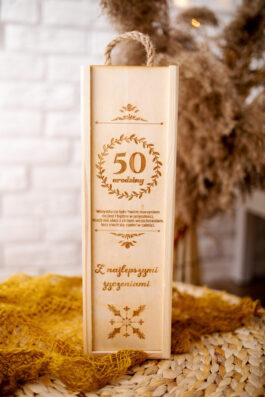 Skrzynka na alkohol urodziny MD025