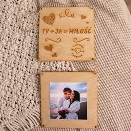 Drewniana ramka na zdjęcie Walentynki MD01