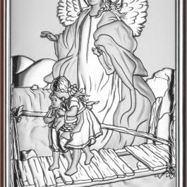 Obrazek srebrny Anioł na kładce 8×15