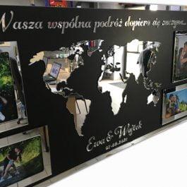 Ramka na Pary Młodej – Mapa świata MD001.01