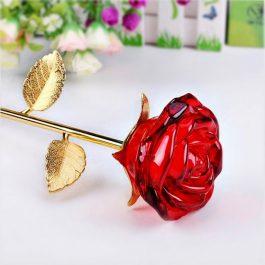 Róża szklane trofeum MD001